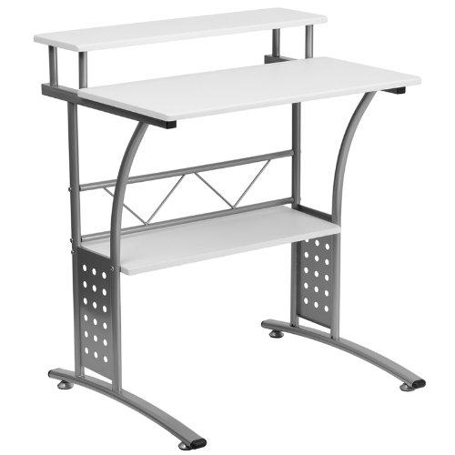历史新低!Flash Furniture NAN-CLIFTON-WH-GG Clifton 白色时尚电脑桌 84.84加元包邮!