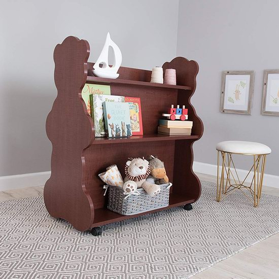 超级白菜!Ace Baby Furniture Bear 可移动 樱桃色 儿童双面书柜1.5折 69.21加元包邮!