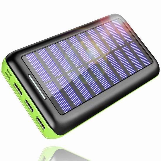 Kedron 24000mAh 大容量太阳能充电宝 22.09加元限量特卖并包邮!