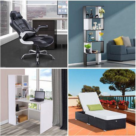 eBay精选大量办公椅、书桌、书柜、沙发、衣柜、庭院家具等4折起!额外再打8折!