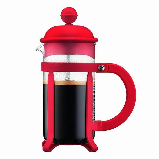 历史新低!Bodum Java 红色 法式咖啡压滤壶5.5折 10.99加元!
