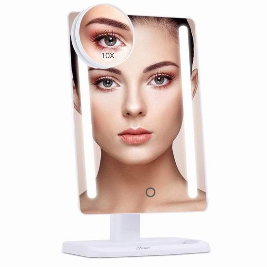 BESTOPE 24 LED照明 10倍放大 化妆镜 12.99加元限量特卖!