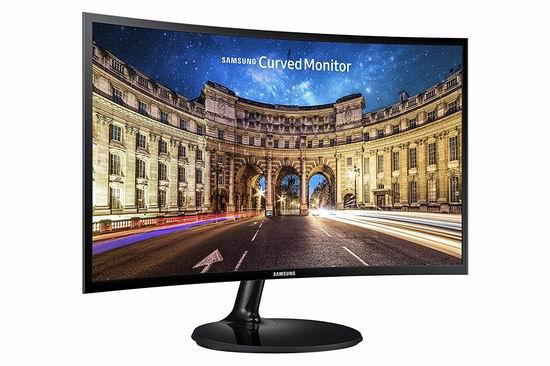 历史新低!Samsung 三星 LC24F390FHNXZA 24英寸 曲面屏 超薄游戏显示器6.8折 168加元包邮!