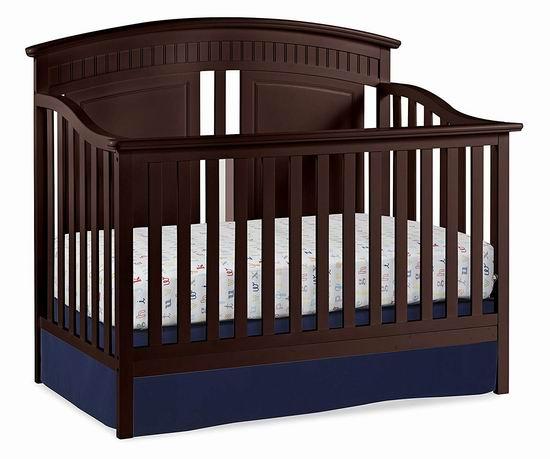 历史新低!Thomasville Majestic 四合一多功能成长型 实木婴儿床 249.99加元包邮!