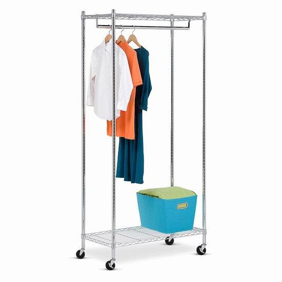 近史低价!Honey-Can-Do GAR-01120 豪华商业级 可移动 置物晾衣架4.1折 54.77加元包邮!