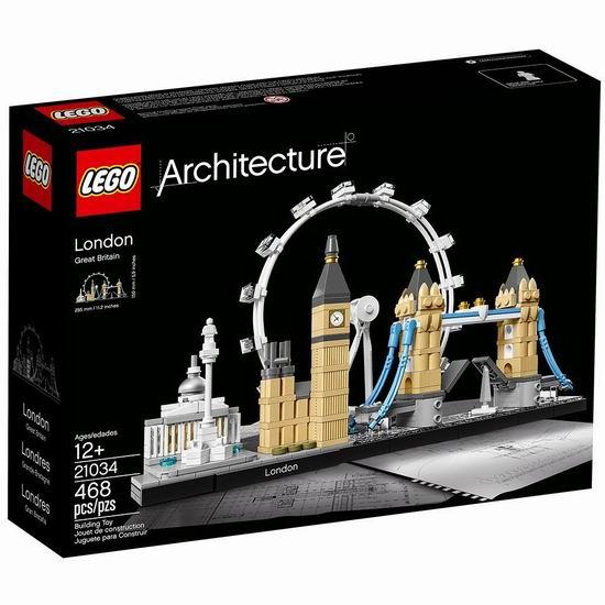 LEGO 乐高 21034 建筑系列 伦敦街景(468pcs) 39.99加元包邮!