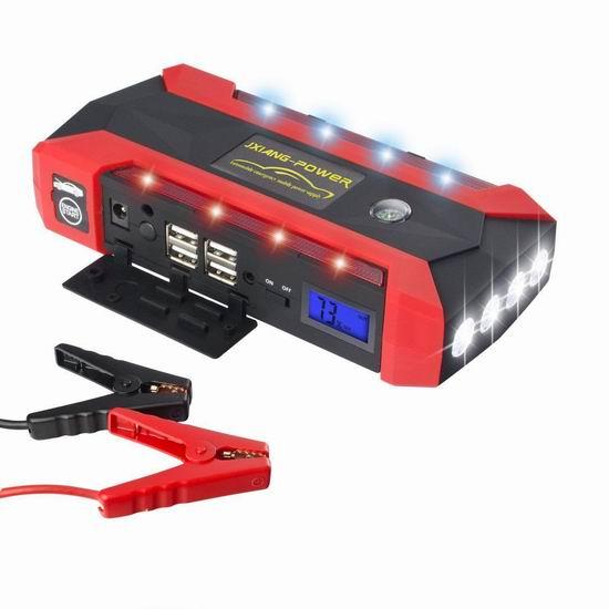 白菜价!历史新低!Supower 600A 20000mAh 多功能 便携式充电宝/汽车电瓶紧急启动电源2.5折 49.99加元清仓并包邮!