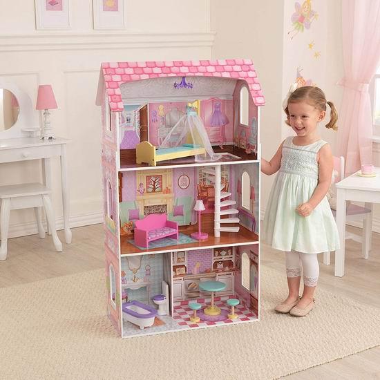 历史新低!KidKraft Penelope 大型玩具娃娃屋5.3折 89.99加元包邮!