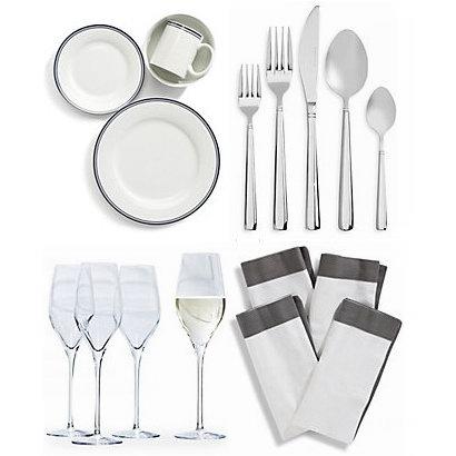 今日闪购:精选 GlucksteinHome 精美餐具、酒具、刀叉勺、桌布等全部4.5折!