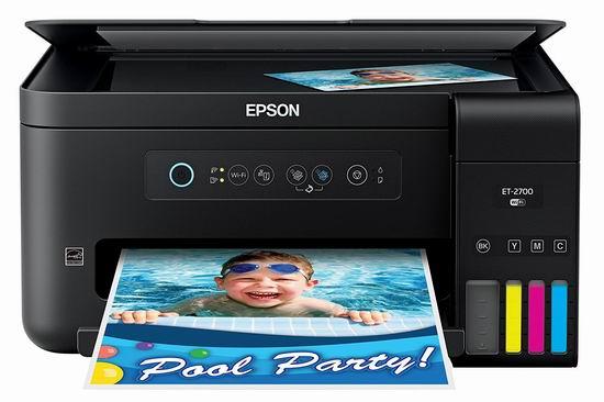 金盒头条:历史新低!Epson 爱普生 ET-2700 EcoTank 无线多功能 彩色喷墨打印机 259.99加元包邮!
