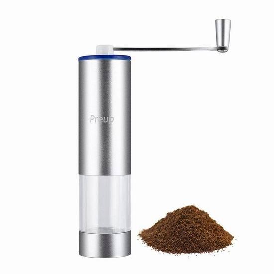 白菜价!历史新低!Preup 便携式手动 咖啡豆研磨机2.5折 6加元清仓!