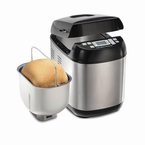 新一代 Hamilton Beach 29885C 2磅立式不锈钢面包机 74.99加元包邮!