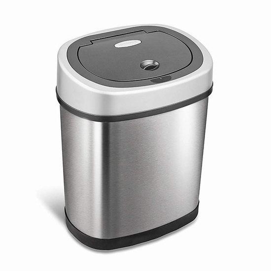 近史低价!NINESTARS DZT-12-9 12升 红外感应式不锈钢垃圾桶 39.86加元包邮!