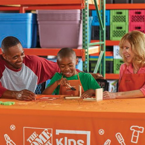 Home Depot 8月份免费儿童手工课,及家庭装修免费课程安排一览!