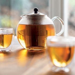超级白菜!Bodum Assam 17盎司不锈钢内胆玻璃茶壶1.9折 10.99加元清仓!