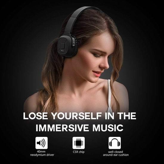 白菜价!历史新低!New Bee 智能计步 头戴式Hi-Fi蓝牙耳机2折 19.99加元清仓!2色可选!