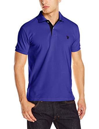 一秒变男神!U.S. Polo Assn. 美国马球协会 男士纯色POLO衫3.6折 19.72加元起!56色可选!