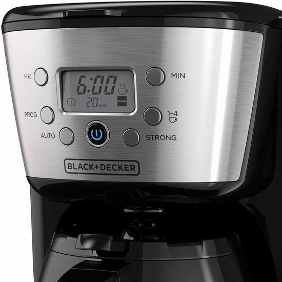 金盒头条:历史最低价!Black+Decker CM2036SC 12杯量 可编程咖啡机 62.98加元包邮!
