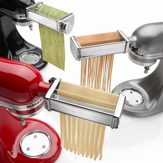 金盒头条:KitchenAid KPRA 厨师机配件 擀面压面切面3件套5.2折 139.99加元包邮!