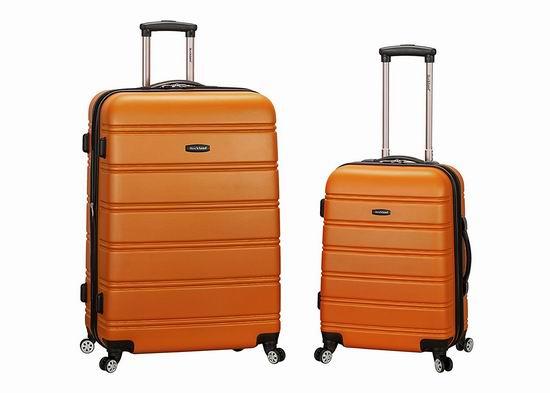 销量冠军!Rockland F225 20寸+28寸 硬壳可扩展 拉杆行李箱3.2折 108.49加元起包邮!多色可选!