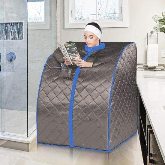历史新低!SereneLife 便携式远红外 汗蒸房/桑拿浴箱5.7折 189.49-189.99加元包邮!两色可选!