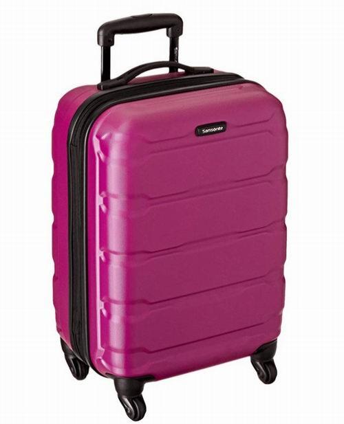 手慢无!Samsonite 新秀丽 Omni 全PC 20英寸 轻质硬壳 玫红色拉杆行李箱 87.06加元包邮!