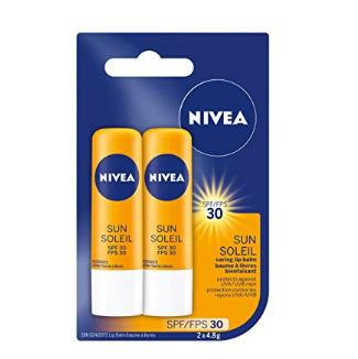 历史新低!NIVEA 保湿防晒护唇膏SPF 30  2支装 1.88加元!