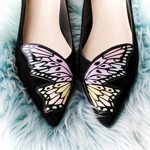 Sophia Webster蝴蝶平底鞋 黑色款  308.75加元(5码),原价 475加元,包邮