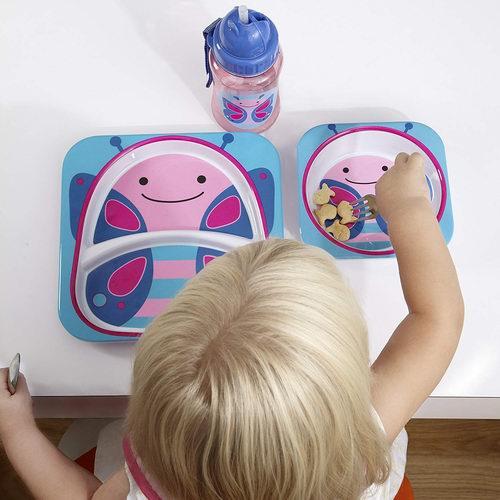 Skip Hop 宝宝餐盘+餐碗2件套6.2折 9.97加元!4色可选!