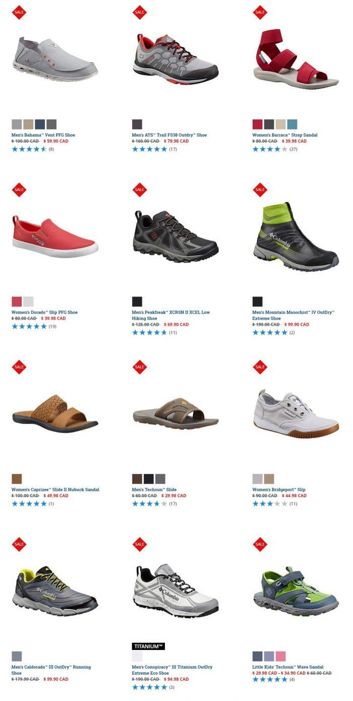 Columbia 精选成人儿童服饰、鞋靴 9.98加元起特卖!