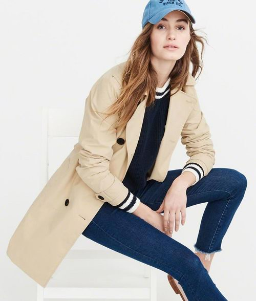 Abercrombie & Fitch秋季风衣、外套 、牛仔裤 、打底衫4折起特卖!