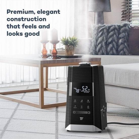速抢!TaoTronics 升级版 6升超大容量 冷暖雾 超声波静音加湿器 39.94加元特卖并包邮!