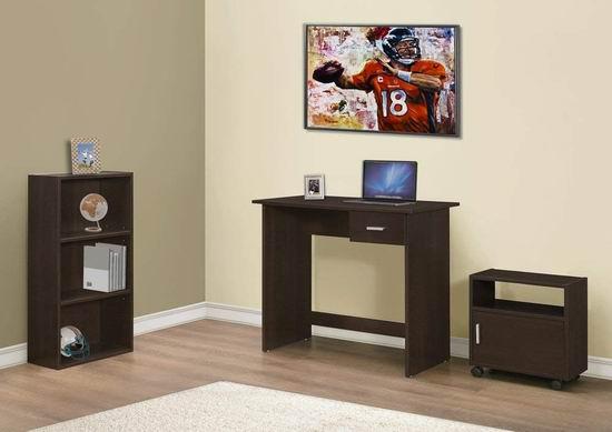 历史新低!Monarch Specialties I 7102 电脑桌+书柜+多用途柜3件套4.8折 120.97加元包邮!