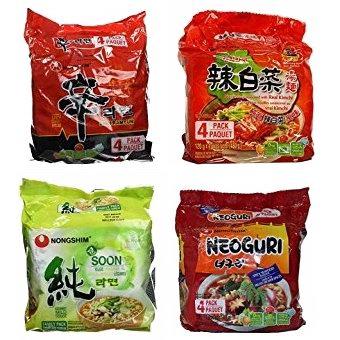 历史新低!Nongshim 韩国农心 方便面(4包)5.4折 3.47-3.88加元!1款可选!