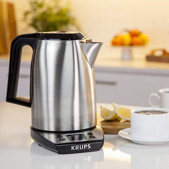 历史新低!KRUPS BW3140 SAVOY 1.7升 5档数字温控 不锈钢保温电热水壶3.9折 40加元清仓并包邮!