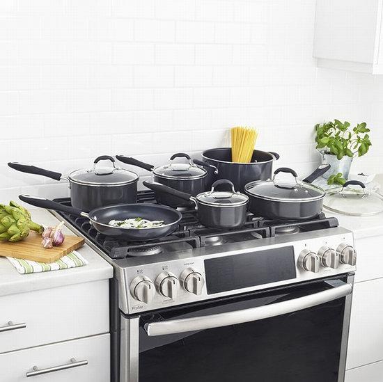 Cuisinart 美康雅 55-11BKC Advantage 高级不粘底锅具11件套2.5折 99.99加元包邮!2色可选!