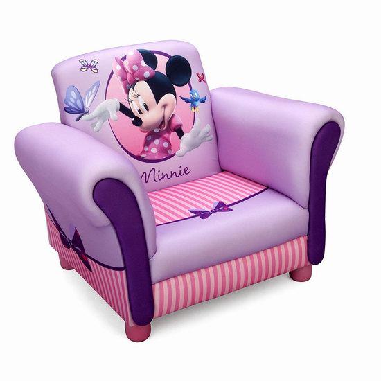 历史新低!Disney 米妮老鼠 儿童单人软垫沙发 70加元包邮!
