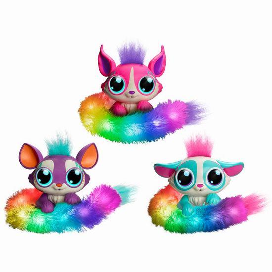 新品爆款圣诞玩具 Lil' Gleemerz 彩虹闪光 互动宠物 狐猴 24.99加元!3色可选!