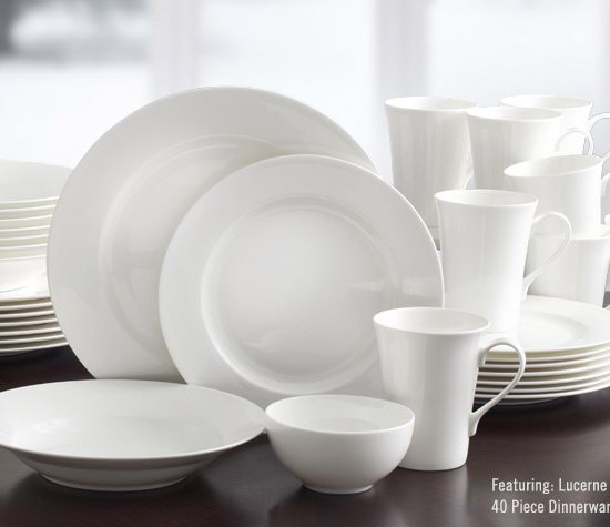 抢到赚到!超级白菜!Mikasa Lucerne 简约白色 顶级骨瓷餐具40件套装0.6折 55.06加元包邮!比美国史低价还便宜103加元!