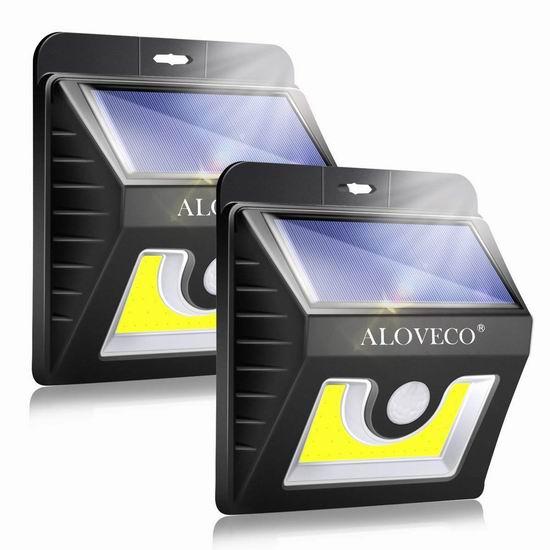 历史新低!ALOVECO COB 36 LED 超亮太阳能防水 运动感应灯2件套 19.92加元包邮!