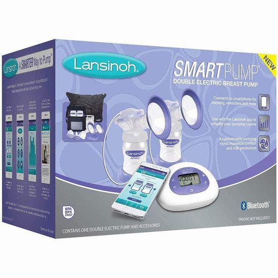 历史新低!Lansinoh 兰思诺 Smartpump 蓝牙智能 双边电动吸奶器 225.21加元包邮!
