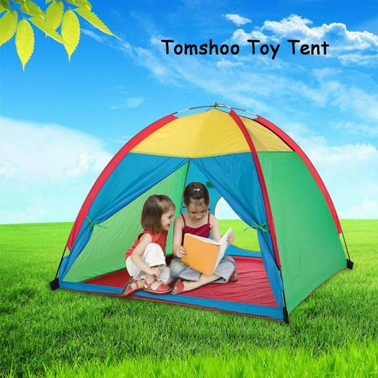 TOMSHOO 便携式儿童游戏帐篷5折 24.99加元限量特卖并包邮!