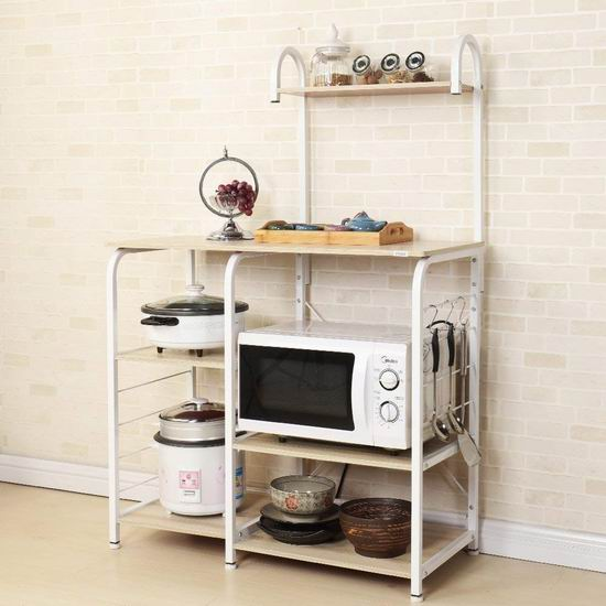 DlandHome 35.4英寸 四层式 厨房收纳桌 63.75加元限量特卖并包邮!2色可选!