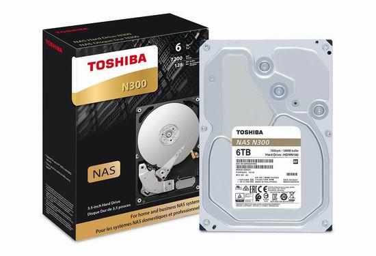 金盒头条:历史新低!Toshiba 东芝 N300 6TB NAS 机械硬盘 194.65加元包邮!