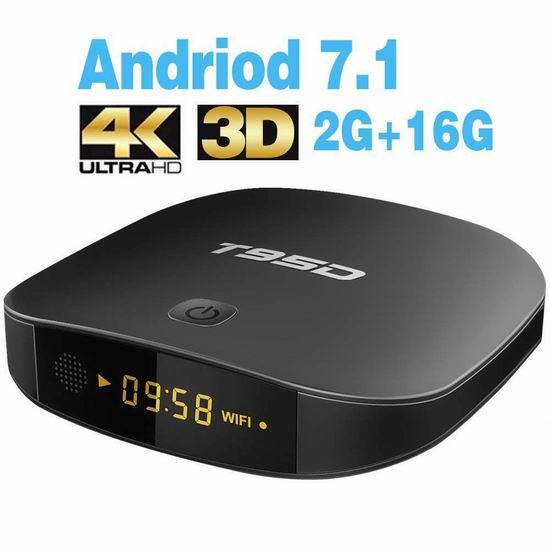 TRUEWELL T95D 网络电视机顶盒(2GB/16GB) 39.99加元限量特卖并包邮!