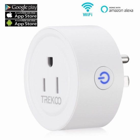 历史新低!Trekoo Wi-Fi 迷你智能插座 10.99加元!