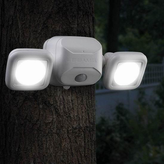 历史新低!Mr. Beams MB3000 500流明超亮 双灯头 室外运动感应灯5.6折 35.25加元包邮!
