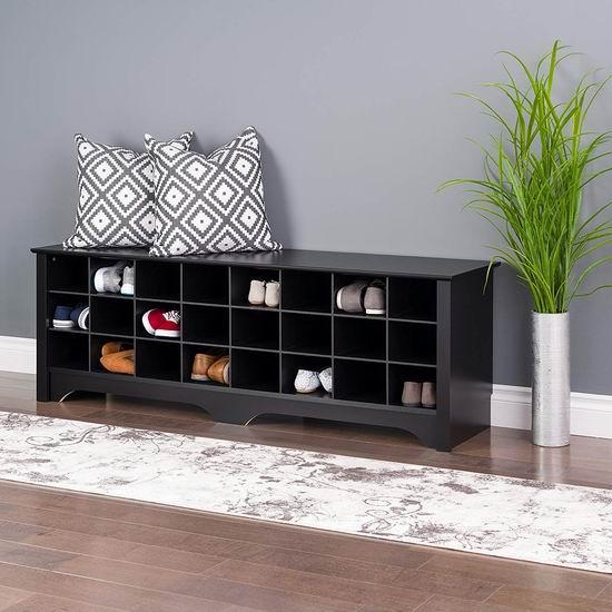 Prepac ESS-6020 60英寸 大容量卧式鞋柜6.3折 188.99加元包邮!2色可选!