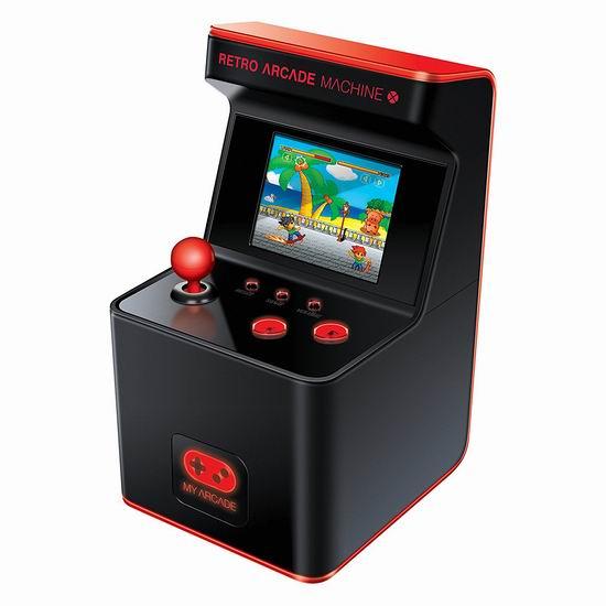 历史新低!My Arcade 300合一 复古游戏机 迷你街机5折 25.49加元限量特卖!