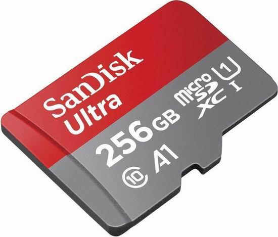 大幅降价!历史新低!SanDisk 闪迪 Class10 Ultra 至尊高速  256GB超大容量 TF(Micro SDHC)储存卡2.2折 48.66加元包邮!